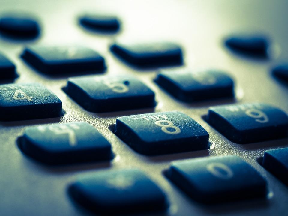 klávesnice telefonu